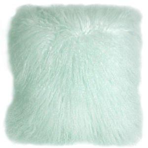 PIllow Decor - Genuine Mongolian Tibetan Sheepskin Lamb Wool Pastel Mint