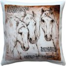 Pillow Decor - Andalusian Horses Throw Pillow 17x17  - SKU: LE1-0043-01-17