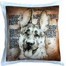 Pillow Decor - German Shepherd Dog Pillow 17x17  - SKU: LE1-0040-01-17