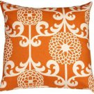 Pillow Decor - Waverly Fun Floret Citrus Orange 20x20 Throw Pillow