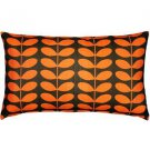 Pillow Decor - Mid-Century Modern Orange Throw Pillow 12x20