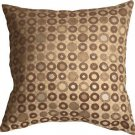 Pillow Decor - Houndstooth Spheres 18x18 Brown Throw Pillow