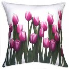Pillow Decor - Vibrant Magenta Tulips 19x19 Throw Pillow  - SKU: VC1-0010-01-19