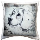 Pillow Decor - Beagle 17x17 Dog Pillow  - SKU: LE1-0016-01-17