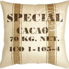 Pillow Decor - Cacao Bean Brown Print Throw Pillow  - SKU: VB1-0006-01-24