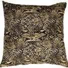 Pillow Decor - Snake Print Cotton Small Throw Pillow  - SKU: PC1-0003-01-17