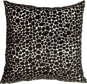 Pillow Decor - Pony Spots Black and White 16x16 Throw Pillow