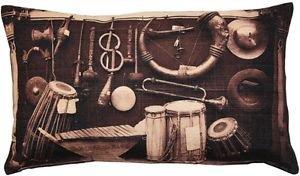 Pillow Decor - Musical Instruments Throw Pillow 12x20  - SKU: PD2-0062-01-92