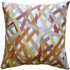 Pillow Decor - Streamline Orange 20x20 Throw Pillow  - SKU: DC1-0002-03-20