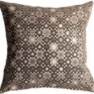 Pillow Decor - Houndstooth Spheres 18x18 Gray Throw Pillow