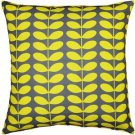Pillow Decor - Mid-Century Modern Yellow Throw Pillow 20x20