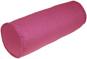 Pillow Decor - Tuscany Linen Orchid Pink 8x20 Bolster Pillow