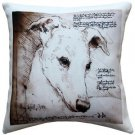 Pillow Decor - Greyhound 17x17 Dog Pillow  - SKU: LE1-0023-01-17