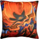 Pillow Decor - Orange Poppy 20x20 Throw Pillow - SKU: SH1-0004-01-20