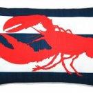 Pillow Decor - Red Lobster Nautical Throw Pillow 12X20  - SKU: PD2-0021-01-92