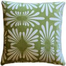 Pillow Decor - Velvet Daisy Green 20x20 Throw Pillow  - SKU: DC1-0005-04-20