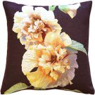 Pillow Decor - Hollyhock Twin Blossoms Tapestry Throw Pillow