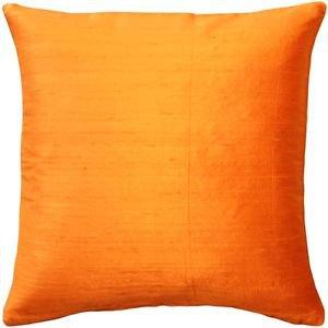 Pillow Decor - Sankara Orange Silk Throw Pillow 16x16  - SKU: FB1-0001-05-16