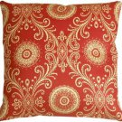 Pillow Decor - Filigree Tomato Red 17x17 Throw Pillow  - SKU: WB1-0009-01-17