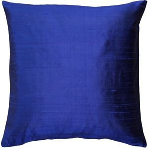 Pillow Decor - Sankara Ink Blue Silk Throw Pillow 20x20  - SKU: FB1-0001-03-20