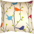 Pillow Decor - Spring Birds 15x15 Decorative Pillow  - SKU: VB1-0010-01-15