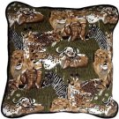 Pillow Decor - Safari Print Cotton Large Throw Pillow  - SKU: PC1-0008-01-22