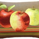 Pillow Decor - Fresh Apples on Brown Rectangular Throw Pillow