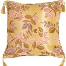 Pillow Decor - Leaf Textures in Lilac and Rose Throw Pillow