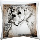 Pillow Decor - Boxer 17x17 Dog Pillow  - SKU: LE1-0018-01-17