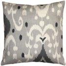 Pillow Decor - Indah Ikat Gray 20x20 Throw Pillow  - SKU: VB1-0029-03-20