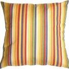 Pillow Decor - Sunbrella Castanet Beach Stripes 20x20 Outdoor Pillow