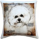 Pillow Decor - Bichon 17x17 Dog Pillow  - SKU: LE1-0017-01-17