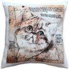 Pillow Decor - Exotic Cat 17x17 Throw Pillow  - SKU: LE1-0021-01-17