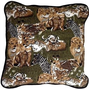 Pillow Decor - Safari Print Cotton Small Throw Pillow  - SKU: PC1-0008-01-17