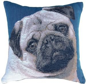 Pillow Decor - Pug Pillow 14x14 French Tapestry Throw Pillow