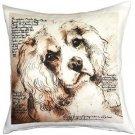 Pillow Decor - Cavalier King Charles Spaniel 17x17 Dog Pillow