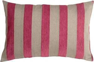 Pillow Decor - Brackendale Stripes Pink Rectangular Throw Pillow