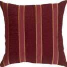 Pillow Decor - Traditional Stripes in Wine 16x16 Decorative Pillow