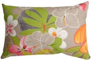 Pillow Decor - Hawaii Garden 12x20 Floral Throw Pillow  - SKU: VB1-0014-01-92