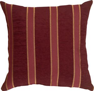 Pillow Decor - Traditional Stripes in Wine 19x19 Decorative Pillow