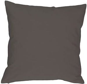 Pillow Decor - Caravan Cotton Dark Gray 18x18 Throw Pillow