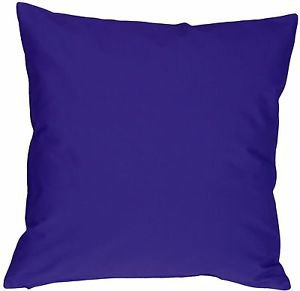 Pillow Decor - Caravan Cotton Royal Blue 20x20 Throw Pillow