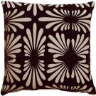 Pillow Decor - Velvet Daisy Black 20x20 Throw Pillow  - SKU: DC1-0005-01-20