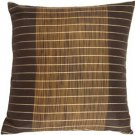 Pillow Decor - Charcoal Stripes and Strands Decorative Pillow