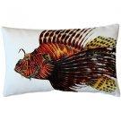 Pillow Decor - Lionfish Fish Pillow 12x20  - SKU: PD2-0002-01-92