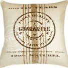 Pillow Decor - Quality Guarantee Brown Print Throw Pillow  - SKU: VB1-0007-01-24