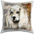 Pillow Decor - American Cocker Spaniel 17x17 Dog Pillow  - SKU: LE1-0001-01-17