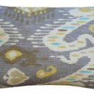 Pillow Decor - Solo Gray Ikat Throw Pillow 12x20  - SKU: WB1-0011-02-92