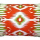 Pillow Decor - Electric Ikat Orange 15x27 Throw Pillow  - SKU: VC1-0009-02-97