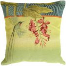 Pillow Decor - Long-Tailed Humming Bird Pillow - SKU: AB1-5035-00-19